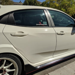 Carbon Fiber Door Pillar Decals 2018-20 Honda Civic Type R / Si