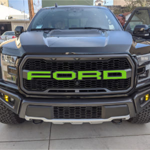 F-O-R-D Front Grill Lettering Decals – fits 2017- 2020 Ford Raptor