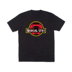 Nor Cal ST RS Club Jurassic Style T Shirt – Black