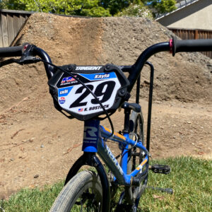 Custom BMX Number Plate Background for Tangent Mini Plate