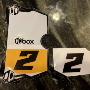 Custom BMX Side Number Plate Backgrounds for Box Side Plates