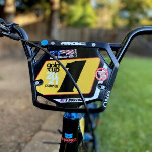 Custom BMX Number Plate Background for Mac One Mini Plate