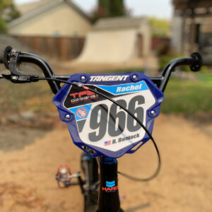 Custom BMX Number Plate Background for Tangent Pro Plate