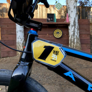 Custom BMX Number Plate Backgrounds for MAC One Side Plates